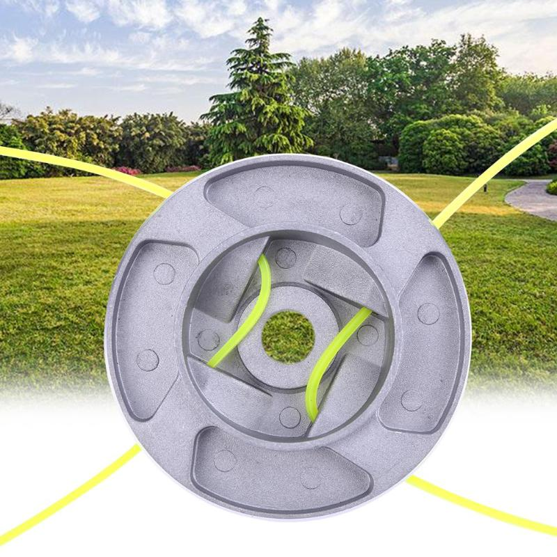 Universal Trimmer Head Alloy Durable Line String Saw Grass Brush Grass Trimmer Head For Lawn Mower Grass Brush Cutter Accessory