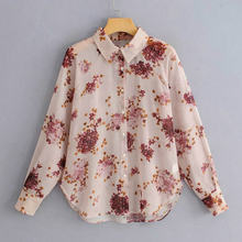 Женская Повседневная рубашка с отложным воротником рукав реглан