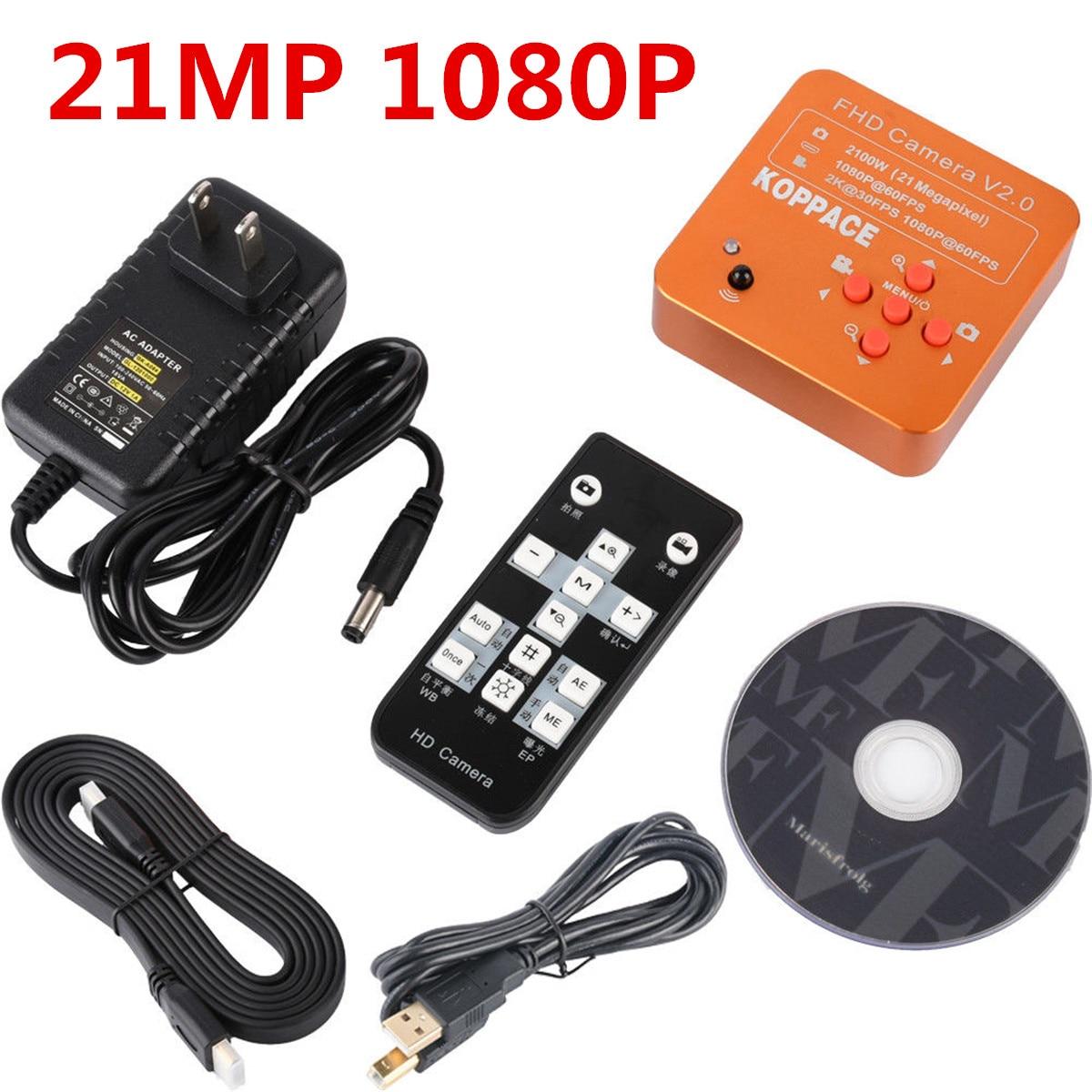 Наборы микроскопов HD 21MP 1080 P 60FPS HDMI FHD фото видео цифровой промышленный микроскоп камера Пульт дистанционного управления
