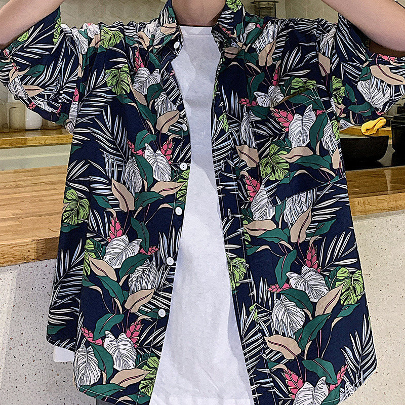 Summer New Hawaiian Shirt Men Fashion Printed Casual Shirt Man Streetwear Trend Wild Loose Short sleeved Shirt Male Clothes in Casual Shirts from Men 39 s Clothing