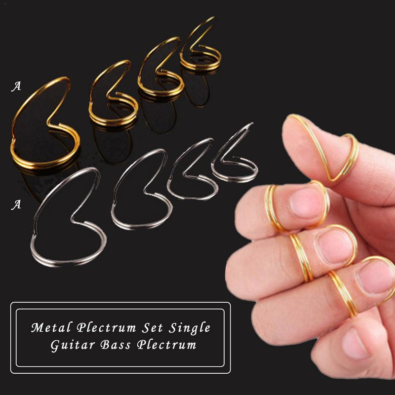 4 Picks Classical Finger Picks wThumb Fingerstyle Guitar protective finger pick