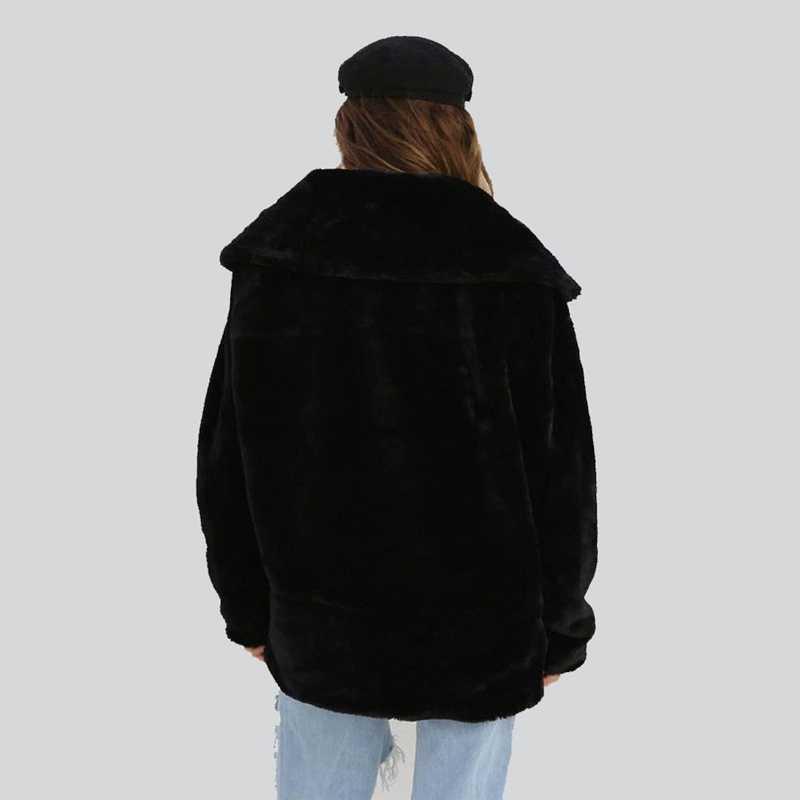 セクシーな女性 2018 冬暖かいテディベアフリースジャケットスタイリッシュなクールパーティーオーバーコートトップス特大屋外コート S-XL