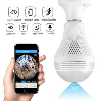 1080P Wifi Light Camera 360 Fisheye Lens Security Wireless Camera IR Night Vision Camera Two Way Audio Camera E27 LED Bulb