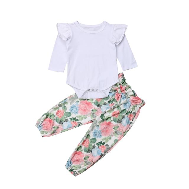 4107b4e2c Aliexpress.com   Buy Newborn Baby Girl 2pcs Clothes Sets Jumpsuit ...