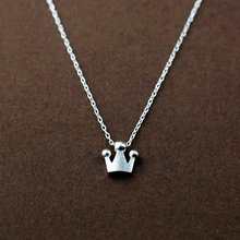 925 Sterling Silver Crown  Necklaces & Pendants For Women Fashion Lady Festival Gift Sterling-silver-jewelry
