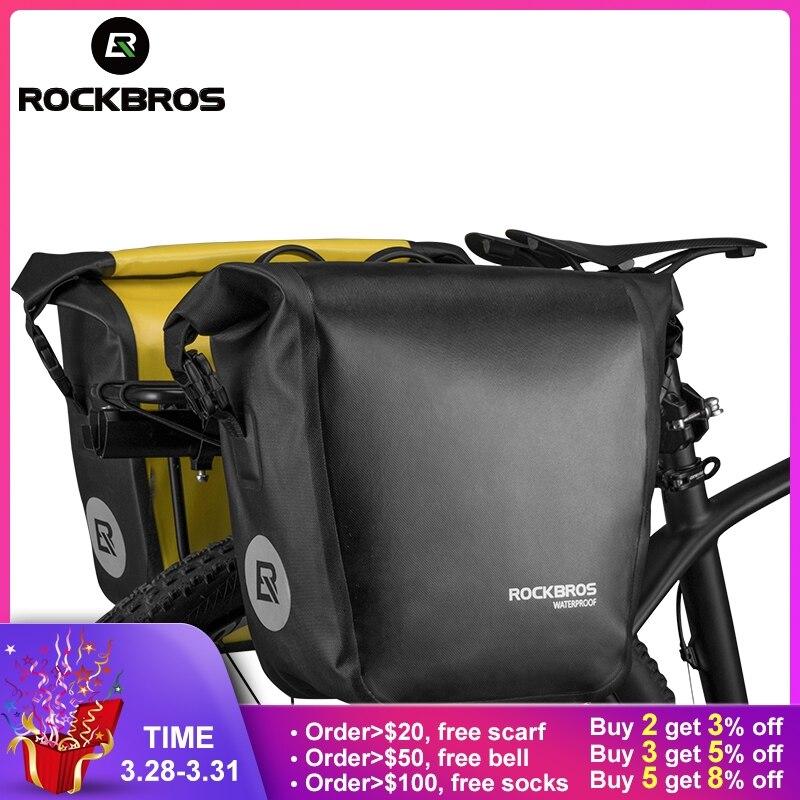 ROCKBROS водонепроницаемый велосипедный сумка 10-18L портативный велосипед сумка корзинка задняя стойка заднее сиденье багажник Пакет Велоспорт...