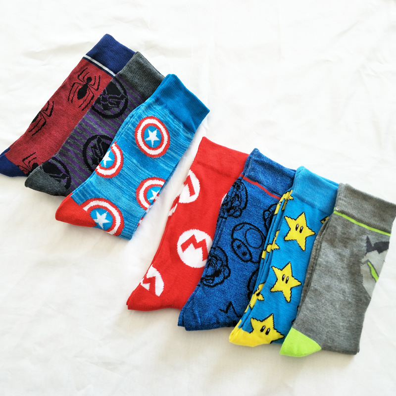 V-Hanver Hot Movie   Socks   For Adult Men Women The Avengers Cotton   Socks   Hip Hop Happy   Socks