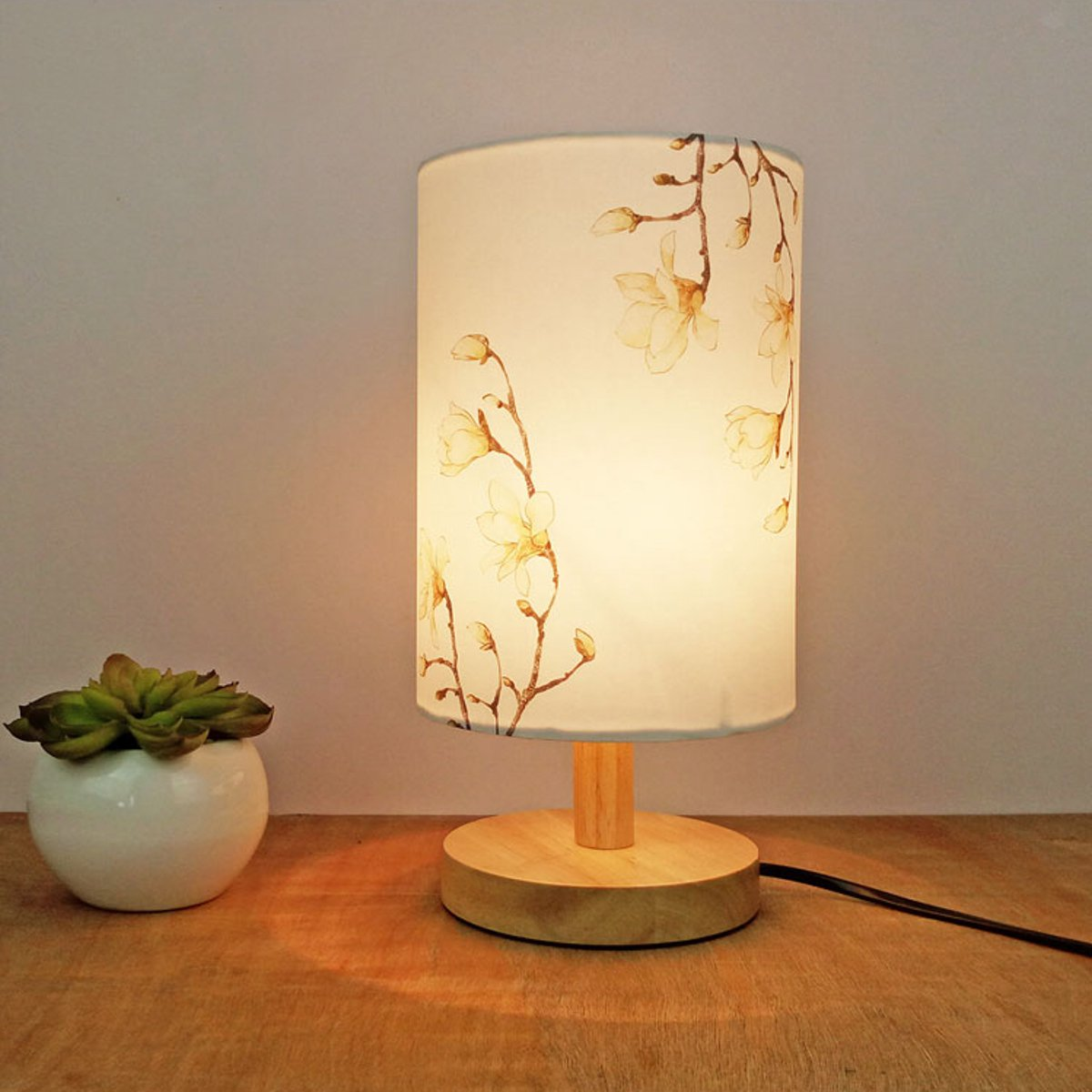 Tulipa Vintage E27 de 14x20CM, portalámparas Floral de pájaro, cubierta de lámpara, sombra de mesa, cubierta de luz de techo, accesorios de iluminación interior 2 piezas de lámpara de papel de pantalla blanca para colgar