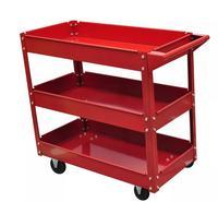 VidaXL Heavy Workshop Garage DIY Tool Storage Trolley Wheel Cart Tray 3 Tier Shelf Large Capacity For Holding Heavy Equipment