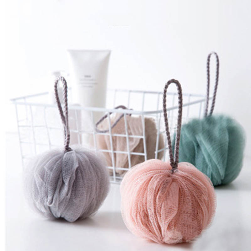 Bathroom Accessories 1Pcs Shower Balls Portable Massage Cleaning Supplies Bath Towel Scrubber Body Exfoliating Tools Bath Ball