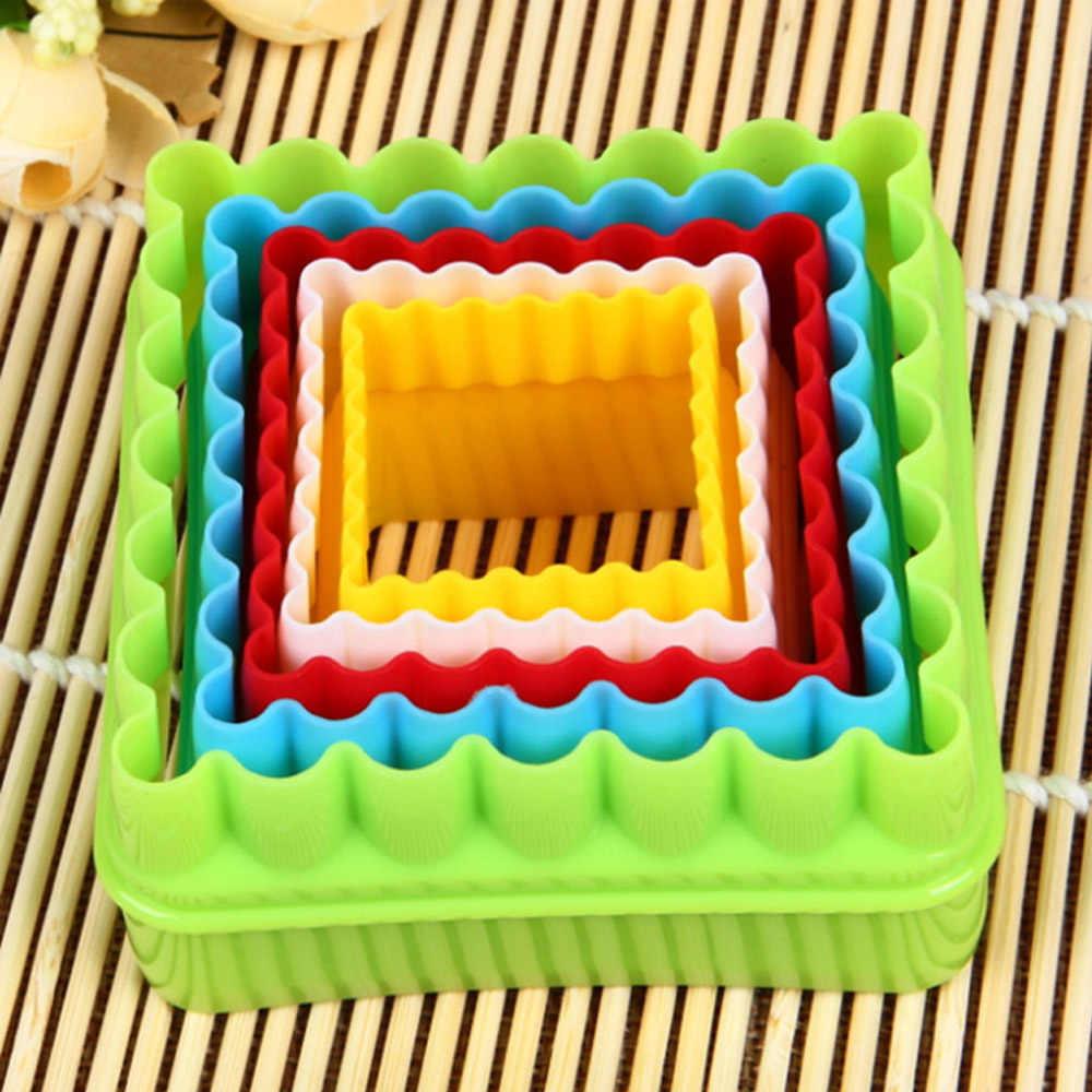 Behogar 36 Pcs Plastik Diy Pohon Natal Bintang Bunga Mini Cookie Cutter Set Baking Fondant Kue Biskuit Coklat Cutting Cetakan
