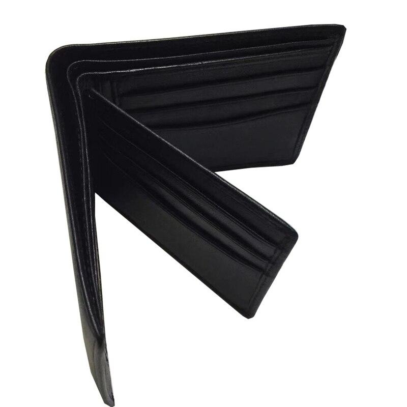 Hommes cuir véritable de marque petit portefeuille Vêtements À Coudre Tissu En Cuir Véritable