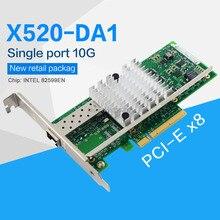 FANMI adaptateur réseau, PCI Express x8 X520 DA1 EN 82599, 10GBase (E10G41BTDA), puce simple Port Ethernet, SFP non inclus