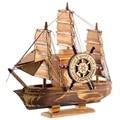 Vintage Marine Nautischen Holz Segelboot Schiff Holz Handwerk Ornamente Party Hause Raum Dekoration-in Figuren & Miniaturen aus Heim und Garten bei