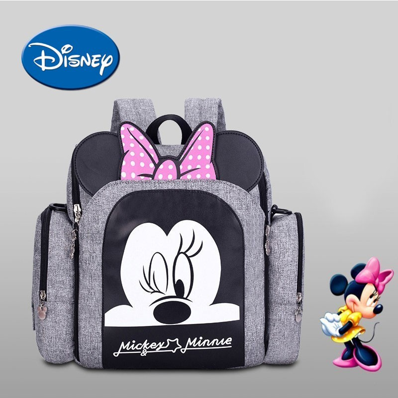 Disney Diaper Bag And Chair Multifunctional Fashion Dining Waterproof Mother Handbag Nappy Backpack Travel Mummy Bags