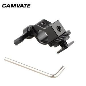 Image 3 - CAMVATE Standard Einzel Rod Clamp 15mm Schiene Stecker Adapter Mit Heißer/Kalten Schuh Halterung Für DSLR Camer Fotografie zubehör
