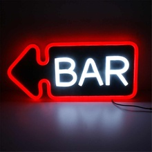 BAR Sign LED Neon Light PVC Bar Club Wall Light Lamp Decorat