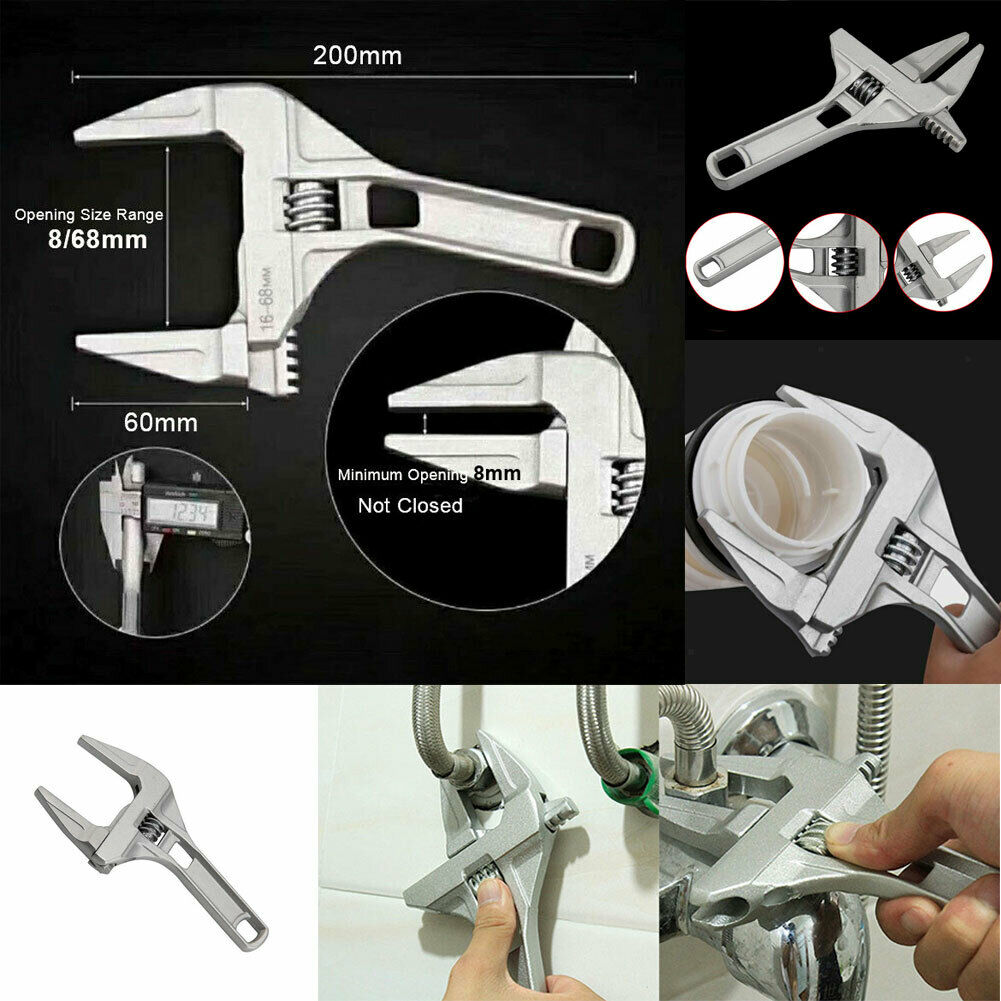 8-68mm Adjustable Wrench Fitting Tools Aluminium Multifunction Wrench Spanner