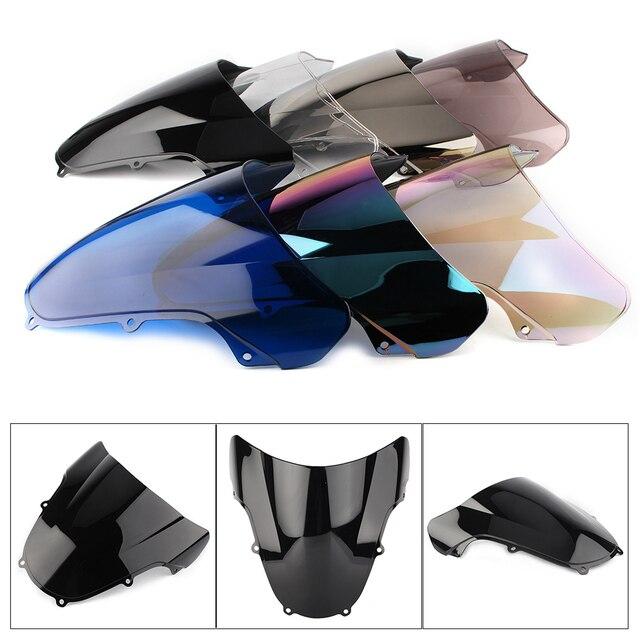 Pare-brise pour moto, Double bulle, pour Suzuki GSXR 600, GSX-R et 750 GSXR600, GSXR750, 2000-2003/ GSXR1000, 2001-2002, K1 et K2