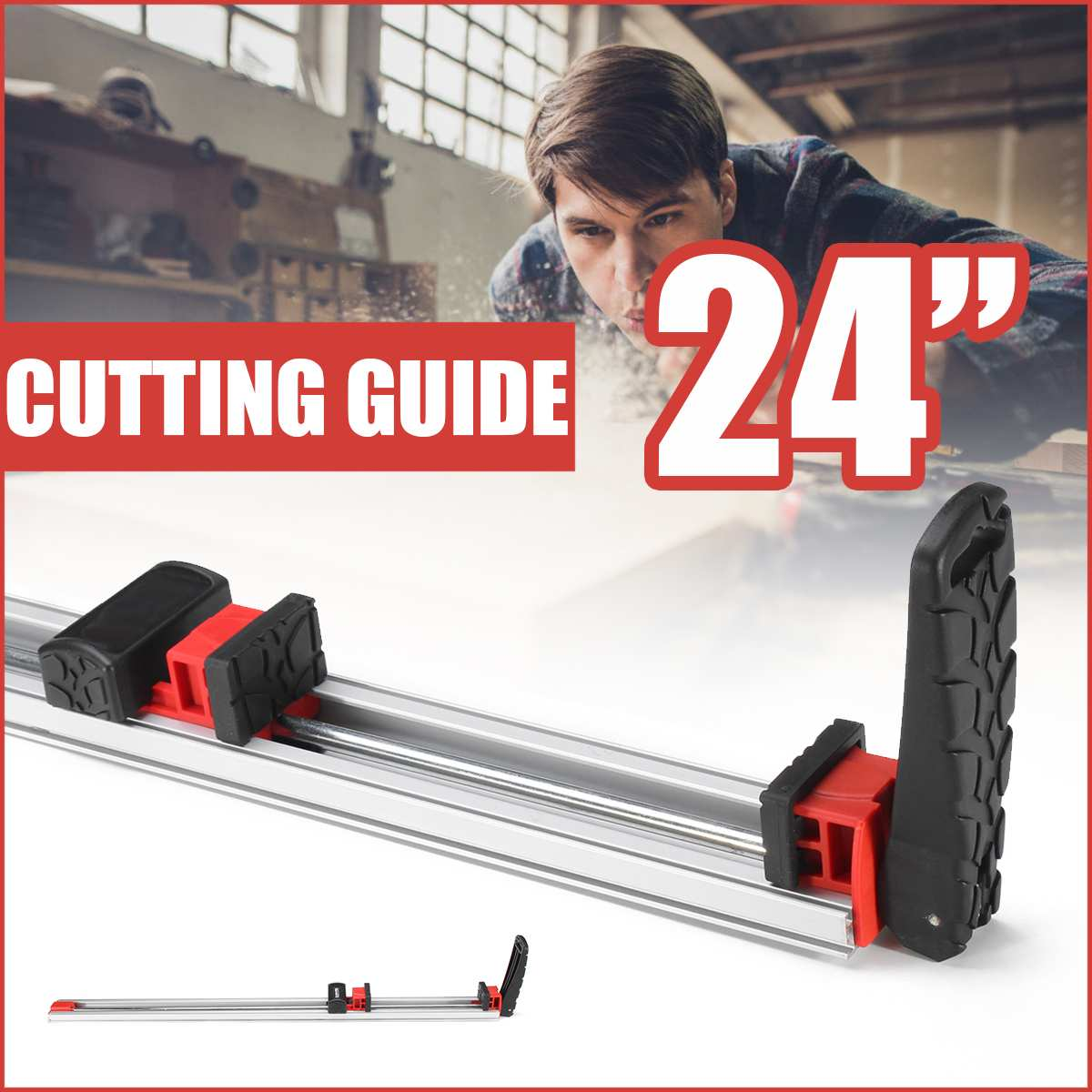 24 Inch Standard Aluminum Alloy Cutting Guide Protractors 620mm DIY Woodworking Table Saw Router Fence Cut Wood Working Tool