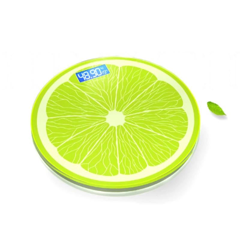 LED Electronic Round Scale Weight Temperature Measurement Scale USB Charging Body Weight Measuring Scale for Adult