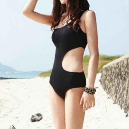 Женский цельный купальный костюм на одно плечо Монокини Бикини для купания