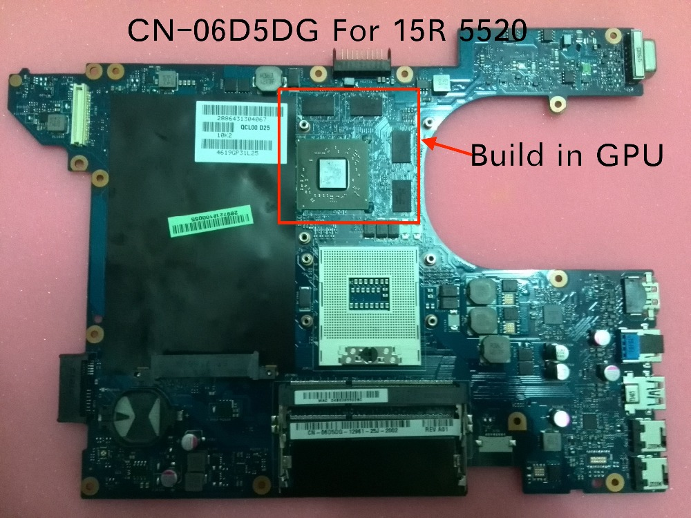 Free Shipping NEW CN 06D5DG 06D5DG 6D5DG for dell Inspiron 15R 5520 QCL00 LA 8241P motherboard with HD7670M 1GB GPU