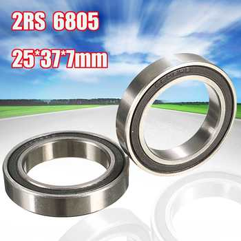2Pcs New 6805N 2RS Bicycle Ball Bearing Rubber Sealed Bike Components 25X37X7mm