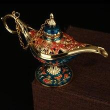 Traditional Aladdin Lamp Magic Retro Censer Panto Tea Pot Genie Oil Zinc Alloy For Home Decor Ornaments