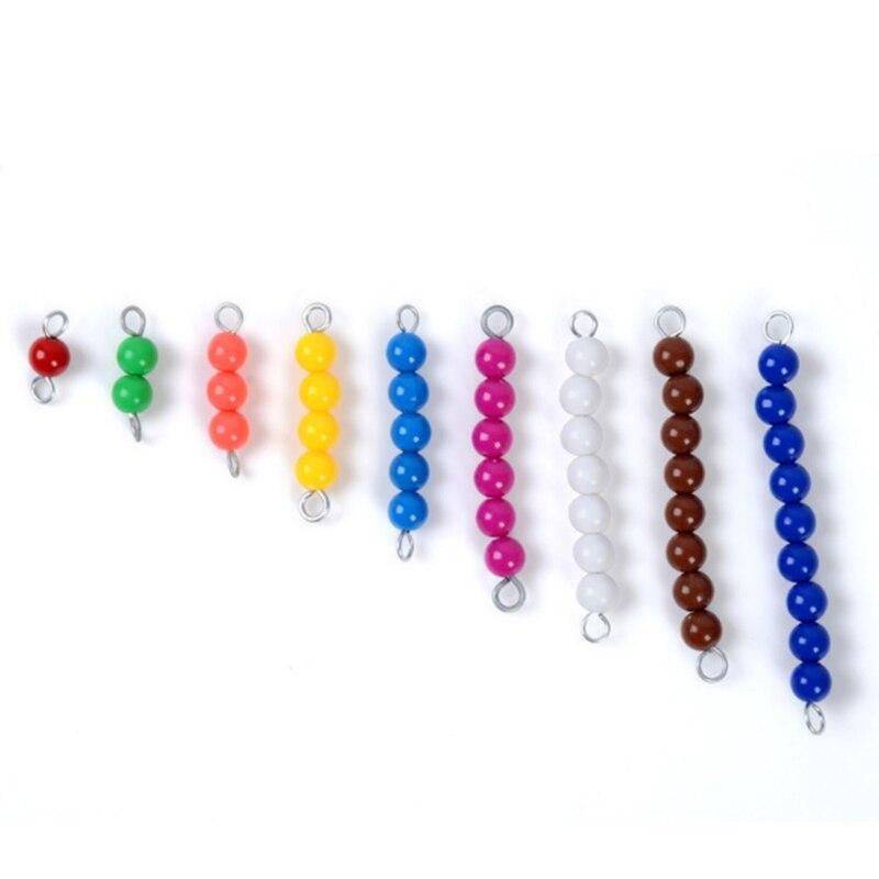Montessori éducatif en bois jouet coloré damier conseil perles mathématiques jouets petite enfance préscolaire formation apprentissage jouets - 3