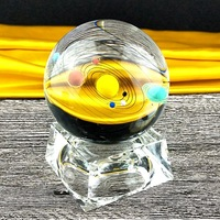 Miniature Solar System Model Crystal Ball Laser Planet Engraved Ball Gifts Christmas Decor