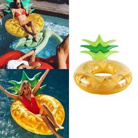 Pineapple Shape Swimming Ring Inflatable Pool Raft Lounge Great for pool party or sea vacations. Float Toy