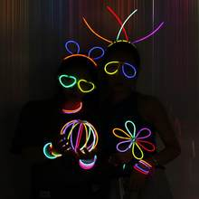 Multi-color Fluorescent Light Sticks Glasses Headbands Glow Sticks Fluorescent Bracelets Necklaces Set for Parties Festivals(China)