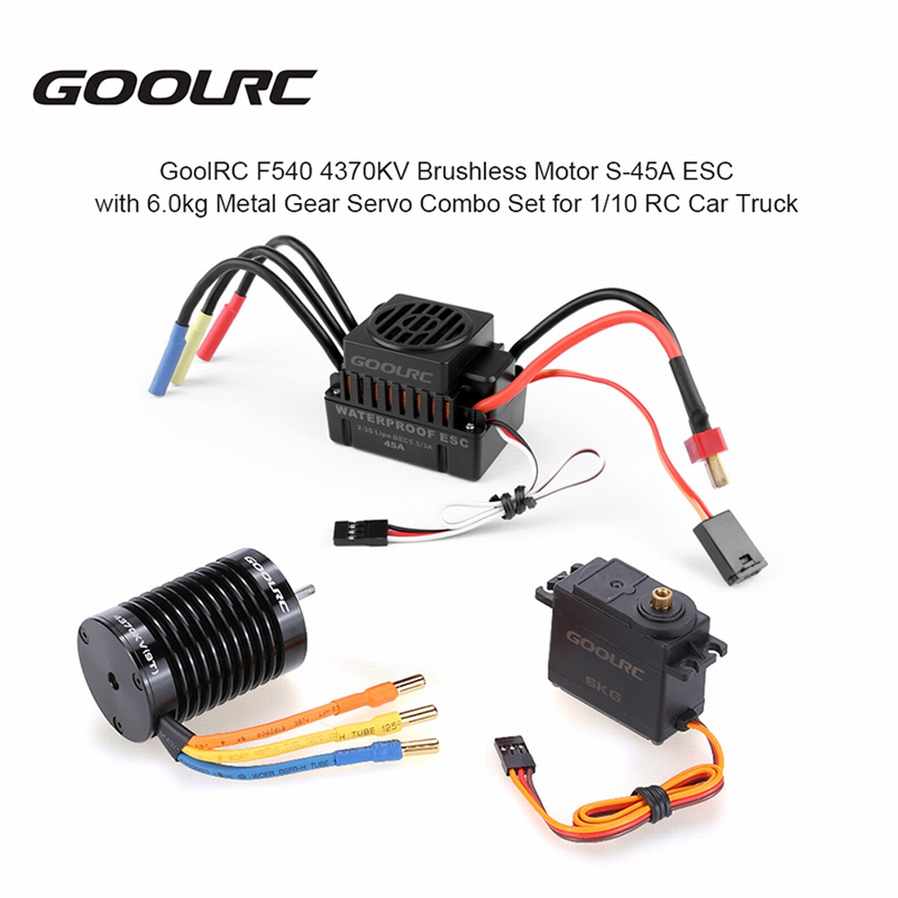 GoolRC F540 4370KV Brushless Motor S 45A ESC with 6 0kg Metal Gear Servo Upgrade Brushless