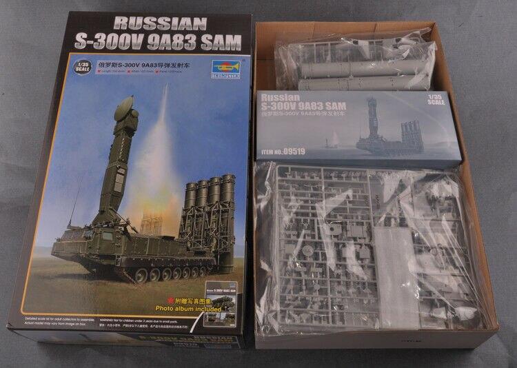 Trumpeter 09519 1/35 armii rosyjskiej S 300V 9A83 SAM wyrzutnia rakiet zbiornika pojazdu w Zestawy modelarskie od Zabawki i hobby na  Grupa 3