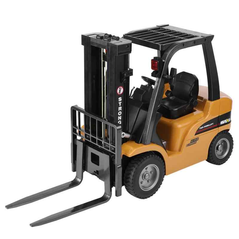 HUINA 577 RC вилочный погрузчик 2,4 г 8 CH RC электрический грузовик металлический пластиковый пульт дистанционного управления вилочный погрузчик инженерный автомобиль игрушки для мальчиков