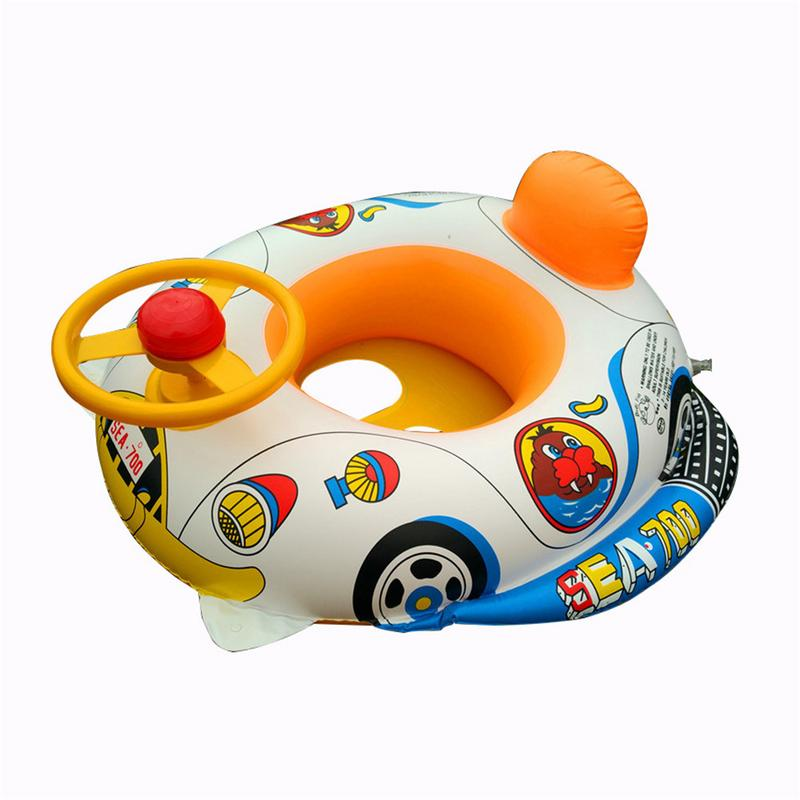 Kids Swimming Float Seat Cute Cartoon Inflatable Portable Baby Safety Swimming Ring Swim Float Water Fun Pool Toys Water Sport