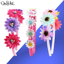 3 piezas de flor princesa diademas de bebé niña niños las mujeres cintas  tocados corona DIY accesorios para el cabello de la ban. 7245e5d4bb99