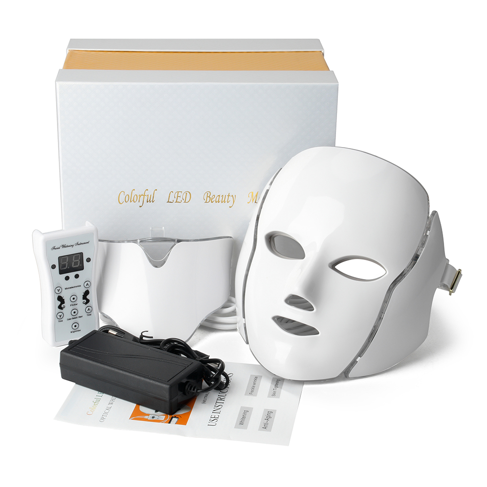 7 Color LED Facial Mask With Micro current Function skin whitening device beauty apparatus