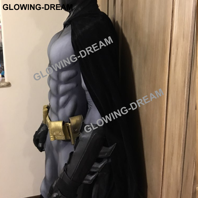 Image 3 - High Quality Batman Costume Batman Muscle Suit With Muslce Padding Inside Only Bodysuit-in Movie & TV costumes from Novelty & Special Use