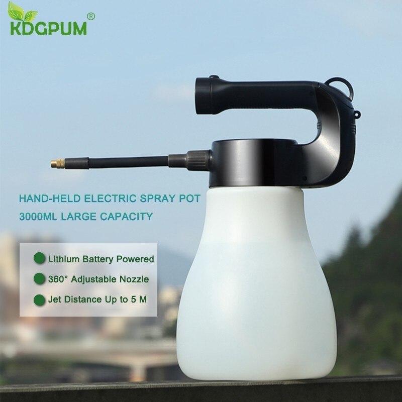 3000 ML duża pojemność ręczny elektryczny przenośny dysza do mgiełki konewka opryskiwacz butelka wody Spray narzędzia ogrodnicze