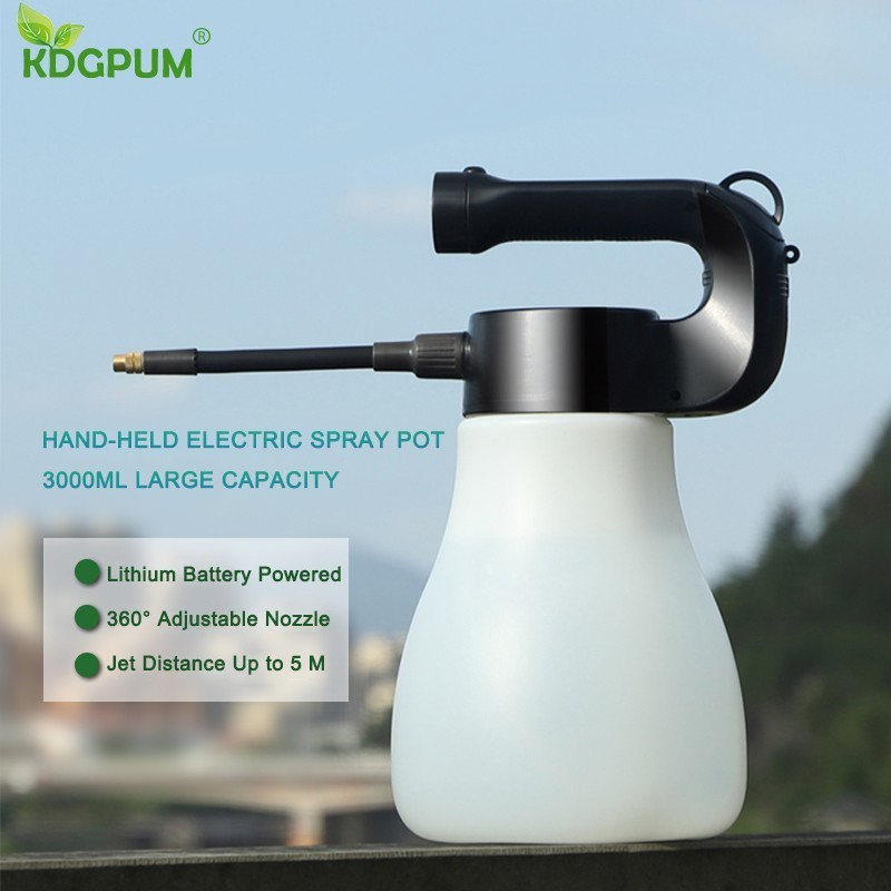 3000 ml grande capacidade hand-held pulverizador elétrico pote portátil bico de névoa rega pode pulverizador garrafa spray de água ferramentas de jardinagem