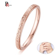 Elegant Wedding Bands Rings for Women 2MM Sandblast Stainles