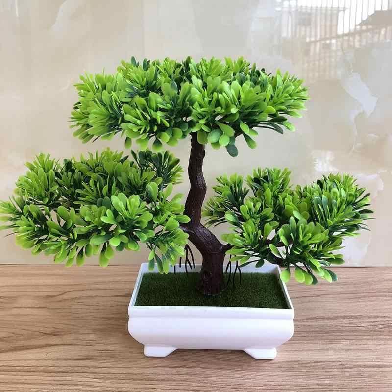 AUGKUN 霊芝木蓮松シミュレーションの花人工植物盆栽偽グリーンポット植物装飾家の装飾クラフト