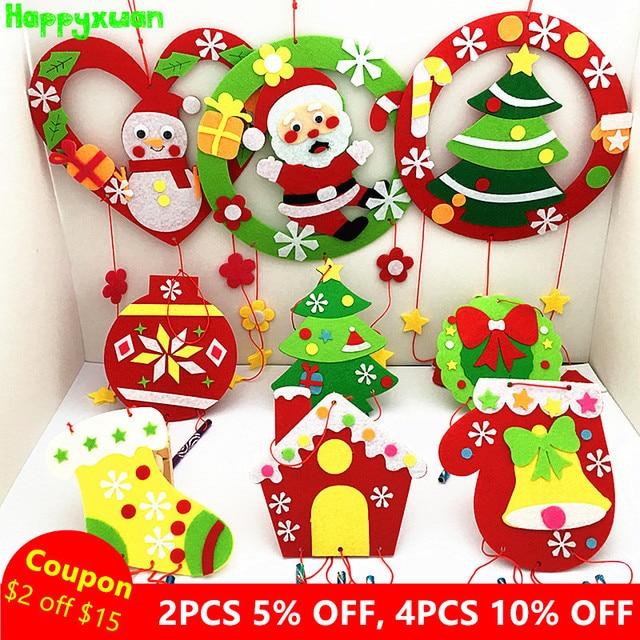 Happyxuan 9 Designs Set Diy Kids Christmas Wind Chimes Craft Kit