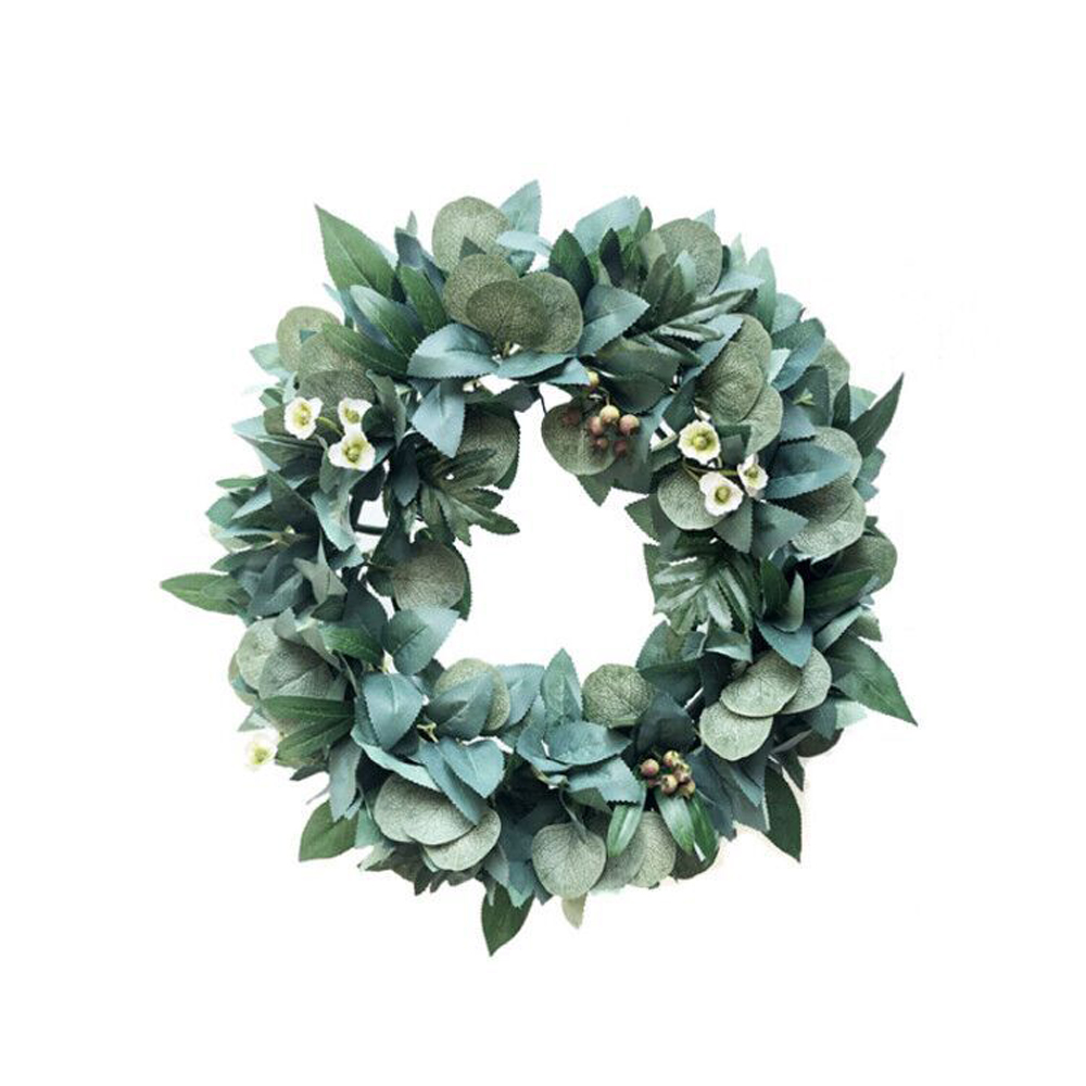 35CM Artificial Green Leaves Wreath Door Hanging Wall Window Wedding Party Christmas Decor Artificial Flower Decorations
