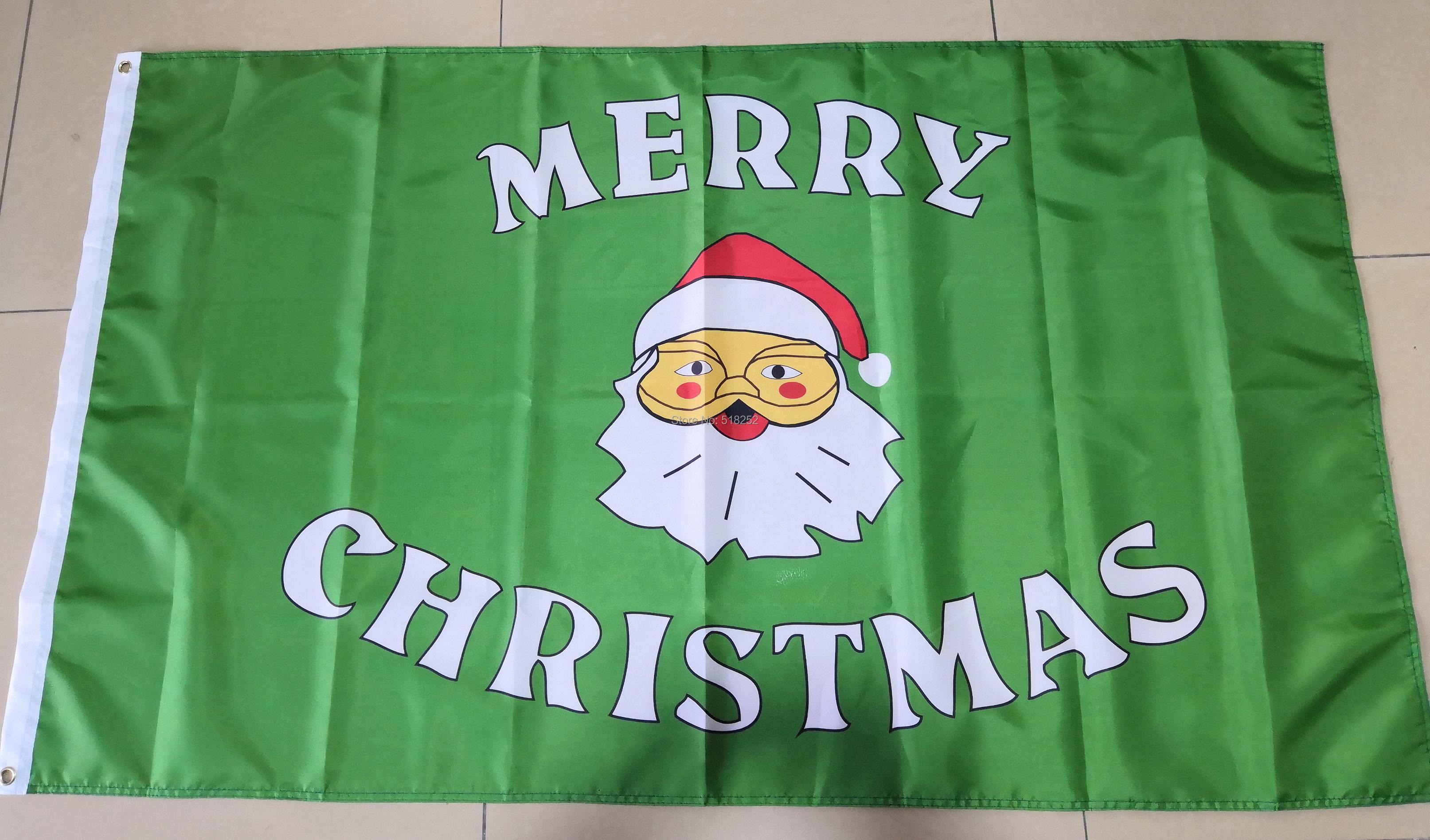 Christmas Flag Santa Banner 150x90cm flag with grommets ...