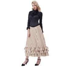 c01de2b319 Victorian Long Bustle Skirt Women Ladies Long Steampunk Retro Gothic  Ruffled Hem(China)