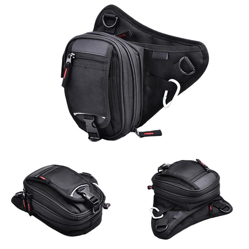 Motorcycle Leg Bag Waist Pack Belt Waterproof Oxford Motorbike Bag With Carabiner For Riding Travel Hiking Accessories Supplies