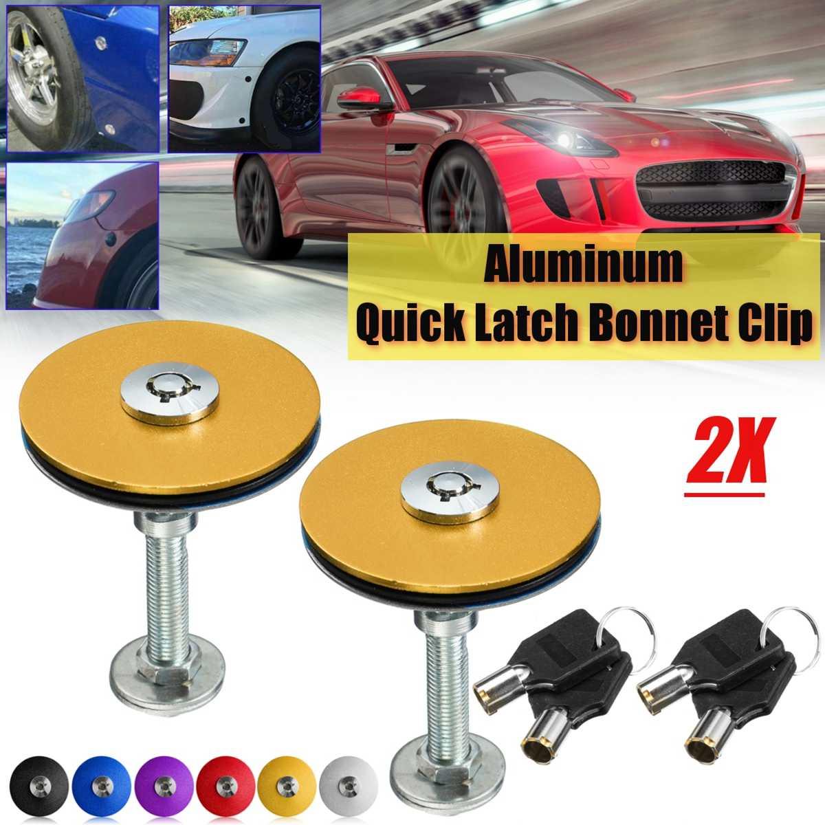 2 pcs 4 pcs Universal Car Quick Latches Bonnet with Key Hood Lock Clip Set Engine Bonnet Flush Plus With Key Hood Pin Latch Kit